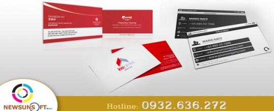 In name card, card visit, danh thiếp giá rẻ tp hcm