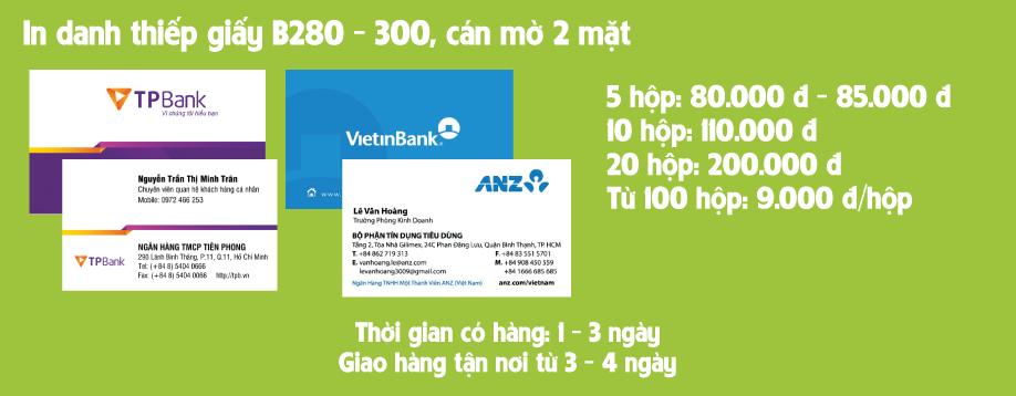 in name card, in danh thiếp, in card visit giá rẻ hcm, mẫu danh thiếp VPBanks